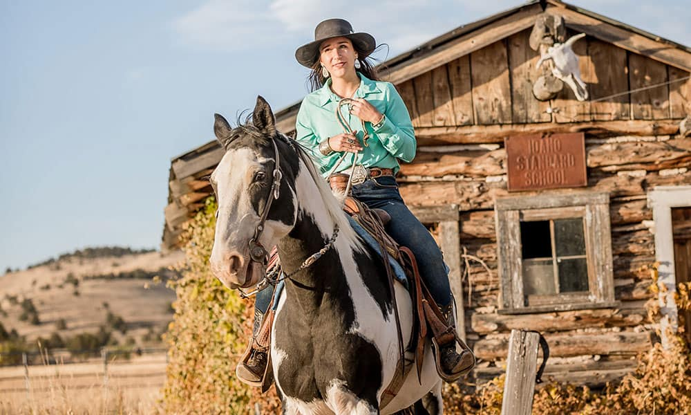 Caite Kershner Custom Silver McFarland Productions Cowgirl Magazine