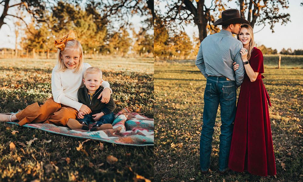 stock trailer shoot for fall family photos cowgirl magazine Madi Wagner photography