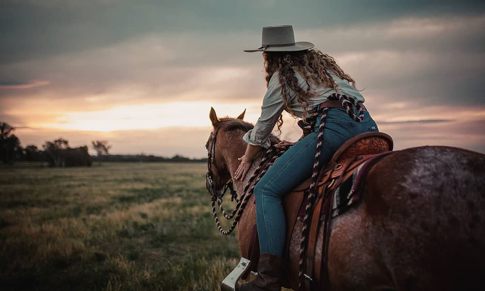 Jodie Morton Australia Cowgirl Green Gold and Blues Cowgirl Magazine