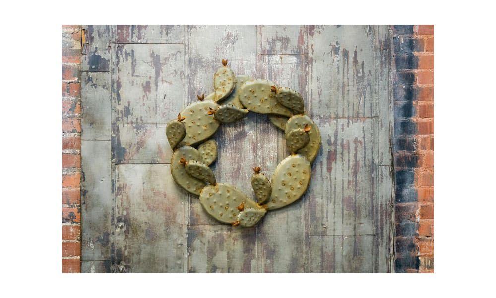 desert steel prickly pear wreath