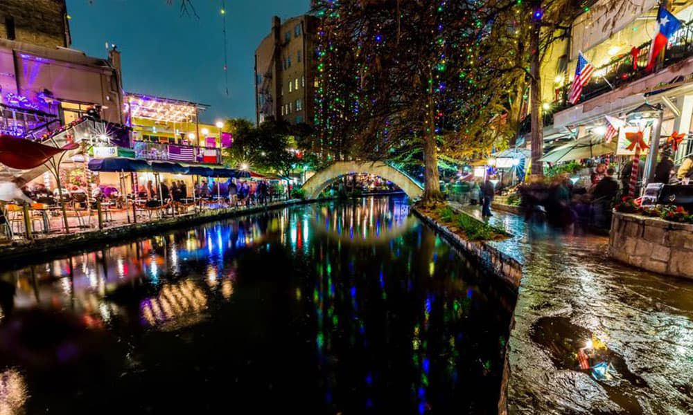 San Antonio River Walk Is Covered In Christmas Lights cowgirl magazine
