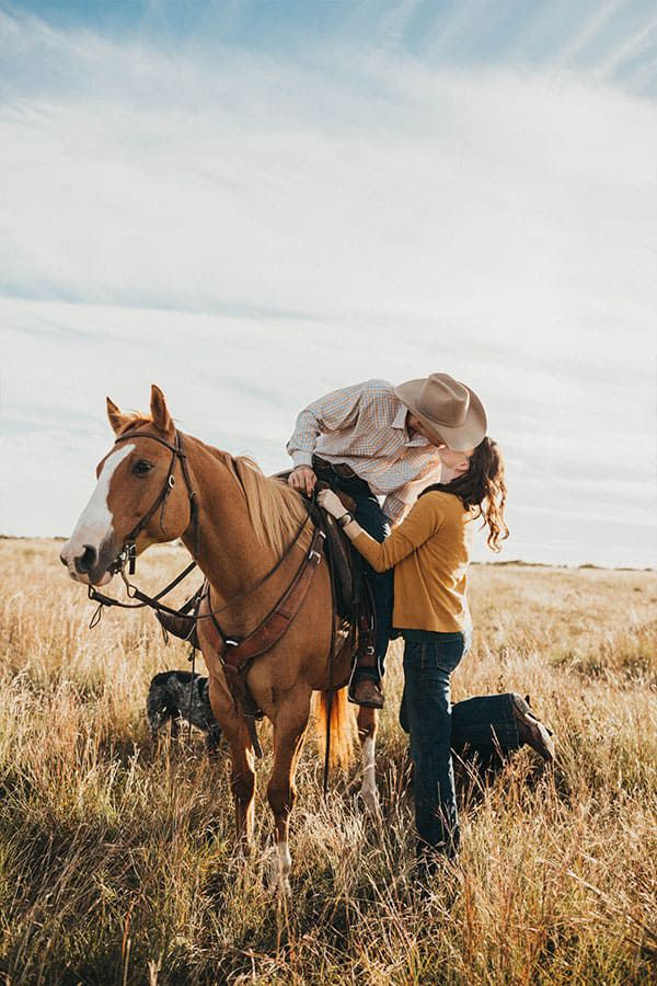 photographer cowgirl magazine Madi Wagner cowboy hat kisses kick heels up horse open space