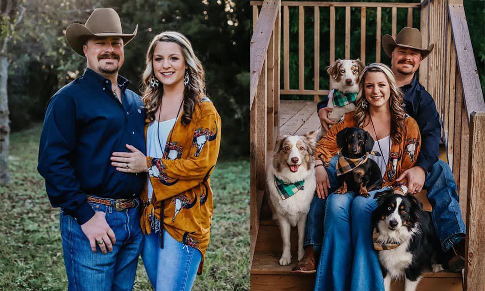 fur babies Family Photos With Your Fur Babies cowgirl magazine cowboy hat steer duster weenie dog Aussies Aussie Australian shepherd