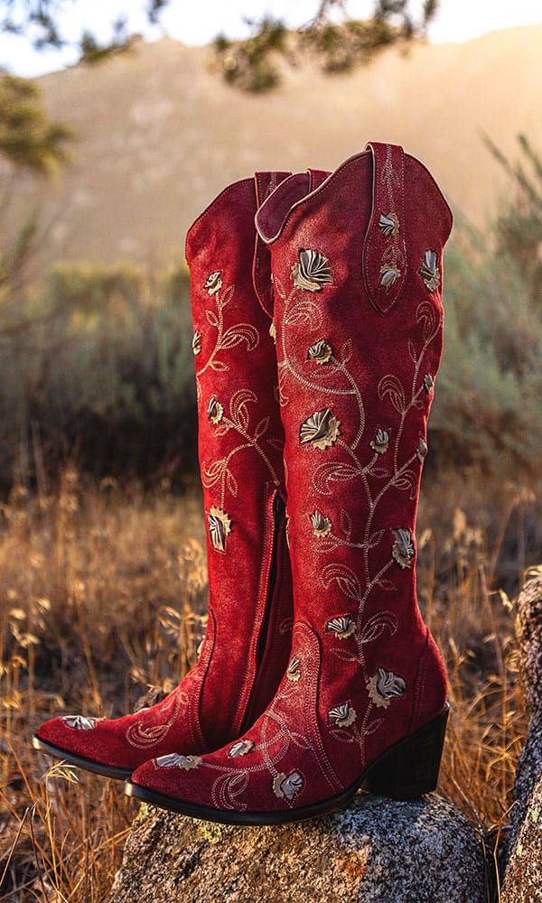 abby rose red tall western cowgirl boots by old gringo