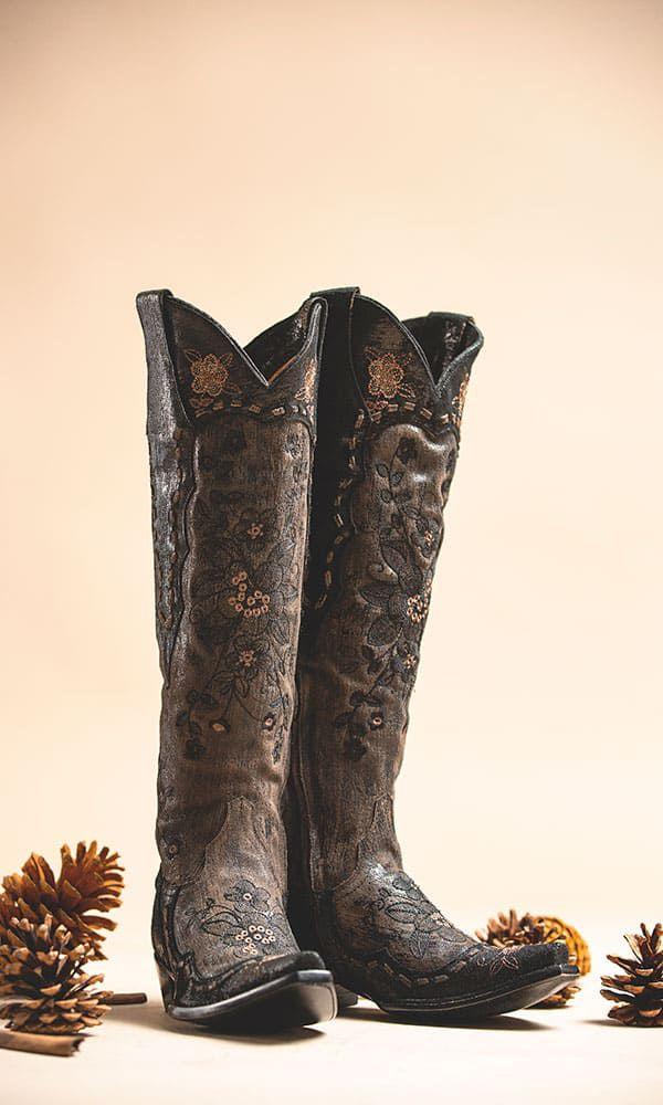 bonnie mayra tall black brown western cowgirl boot old gringo