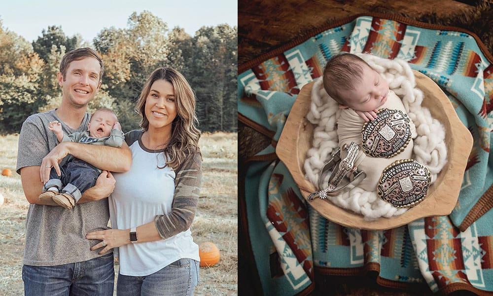bleacher babe family newborn cowgirl magazine