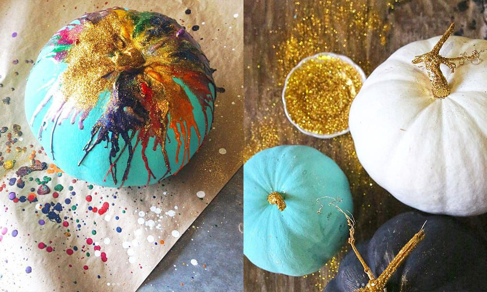 Painted Pumpkins Please! Hold The Carving, Add Glitter! cowgirl magazine