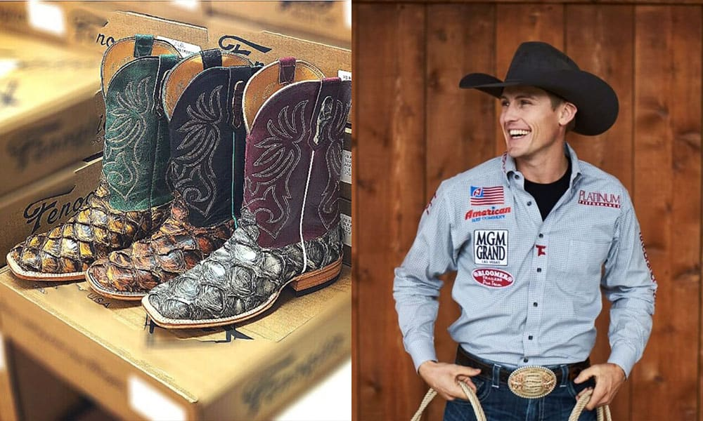 he packs for Las Vegas cowgirl magazine Fenoglio boots boot Tuf Cooper