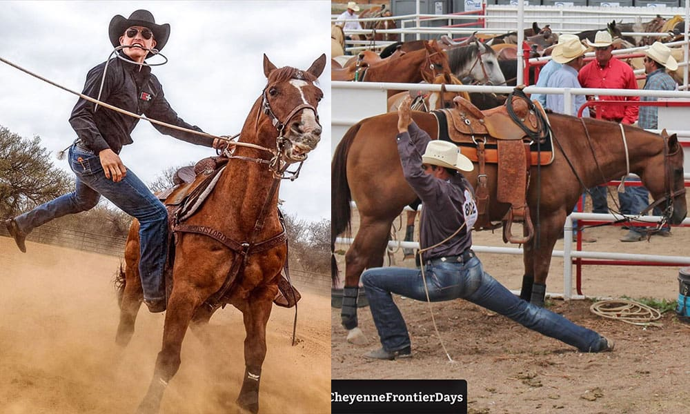 cowboy yoga cowgirl magazine Tuf Cooper calf roping tie-down roping Cheyenne frontier days
