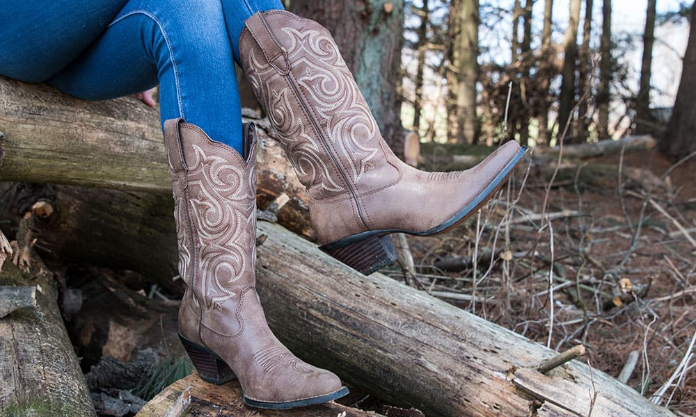 womens crush scall-upped western cowgirl boots durango
