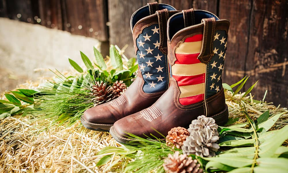 womens lady rebel flag cowboy boots durango