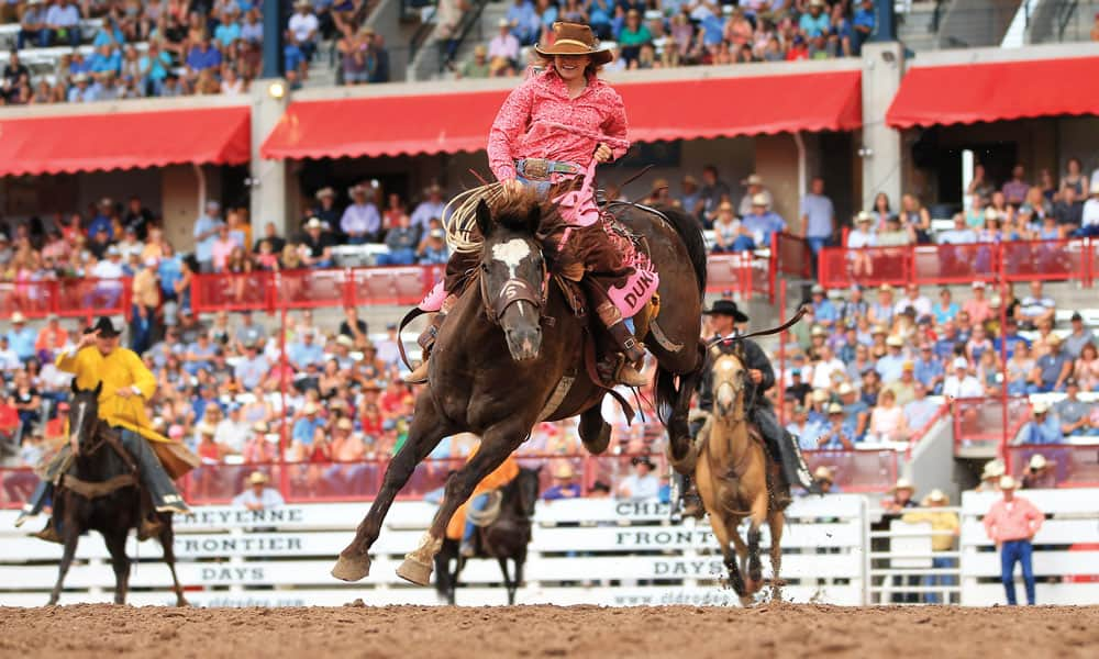 Duke Wimberley Cheyenne Rodeo 2018 by Jackie Jensen