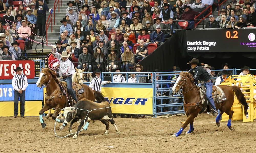 Derrick Begay Cory Petska Wrangler National Finals Rodeo Cowgirl Magazine
