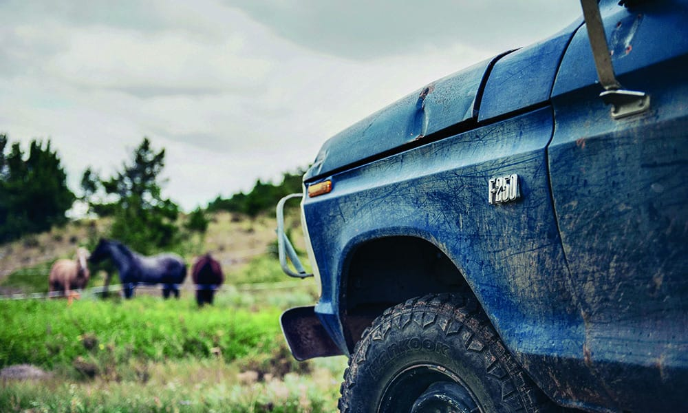 ford truck montana horse blue cowgirl magazine