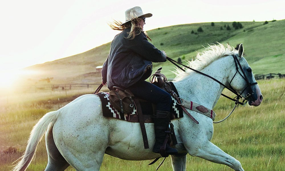horseback riding girl mountains montana camp cowgirl magazine