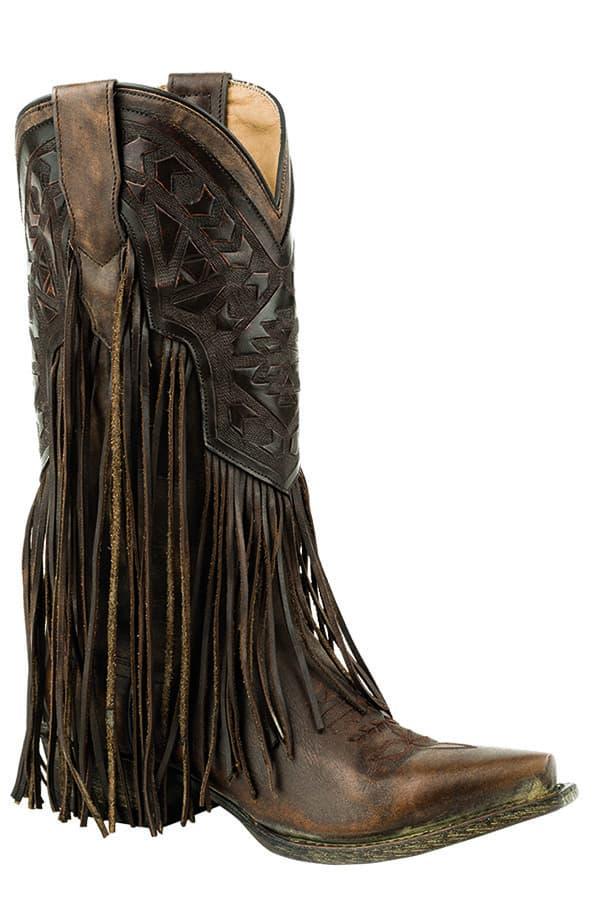 stetson fringe boot brown cowboy western cowgirl magazine