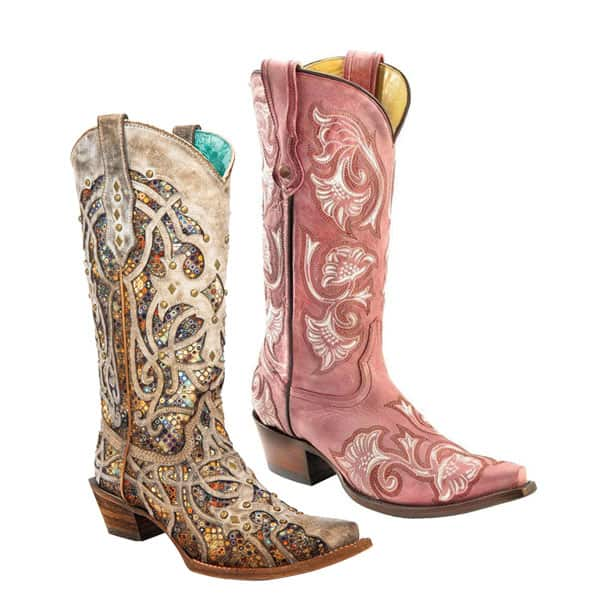 corral boot taupe inlay pink stitched cowboy western cowgirl magazine