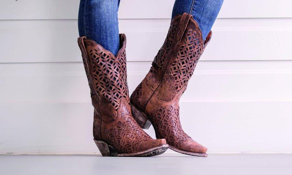 dan post boots cowboy western cutout peek a boo cowgirl magazine