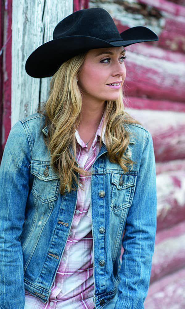 profile amber marshall interview barn denim plaid cowgirl magazine