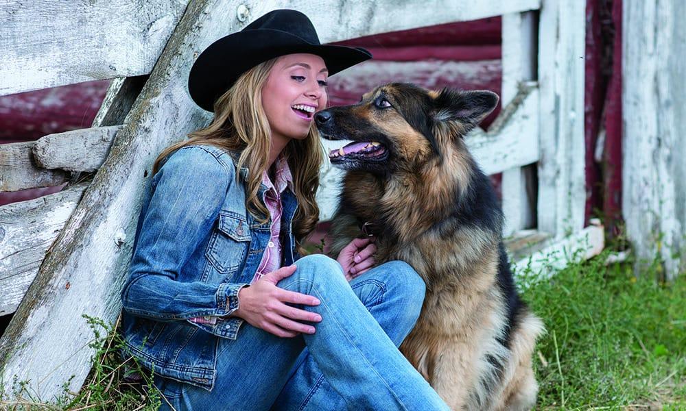 german shepherd dog amber marshall heartland barn farm cowgirl magazine