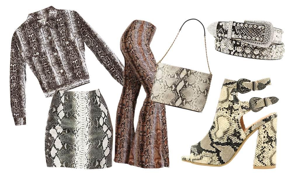 snakeskin boots jacket skirt belt purse heels snake trend cowgirl magazine
