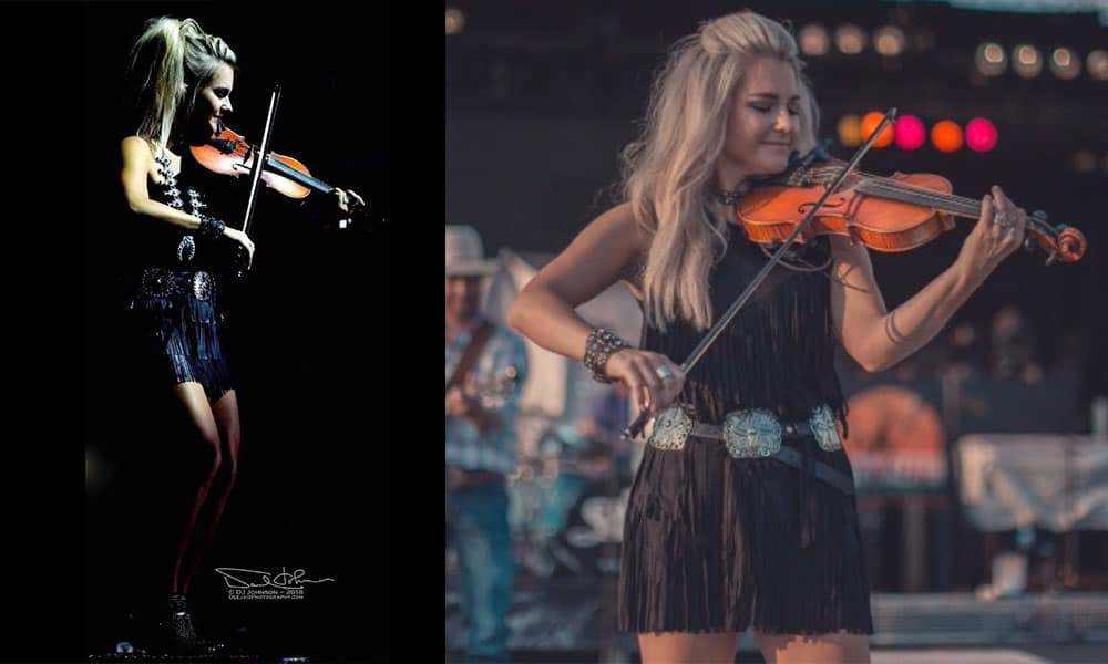 Brooke latke chance Williams band fiddle violin country music western fashion cowgirl magazine