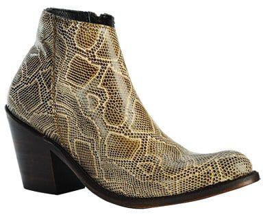 breton snakeprint bootie liberty black cowboy boot cowgirl magazine