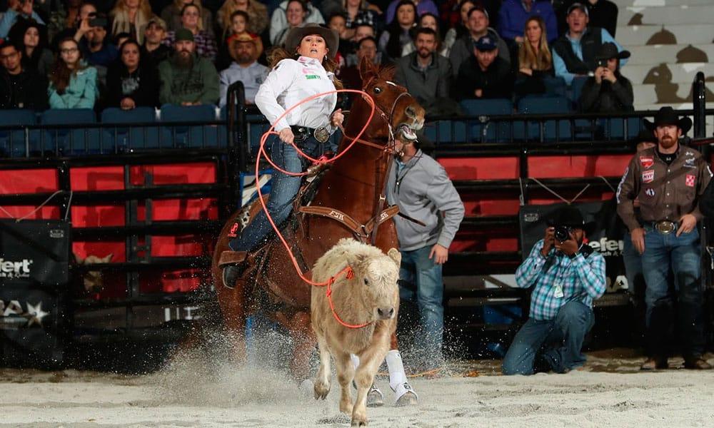 Jackie Hobbs-Crawford WCRA Rodeo Breakaway Roping Cowgirl Magazine