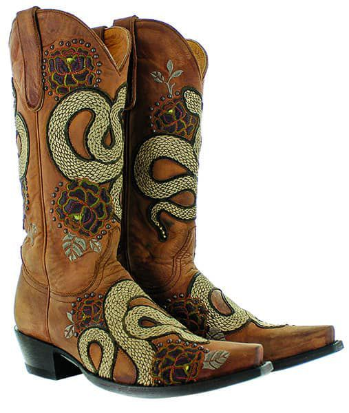 old gringo currie cowboy boot western snake cowgirl magazine