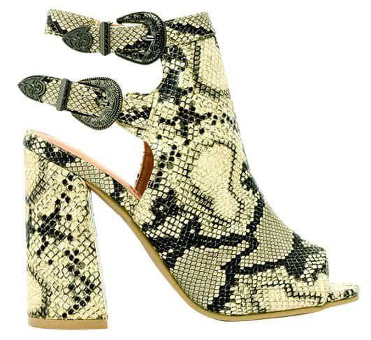 lil bees bohemian snakeskin snake python heels cowgirl magazine