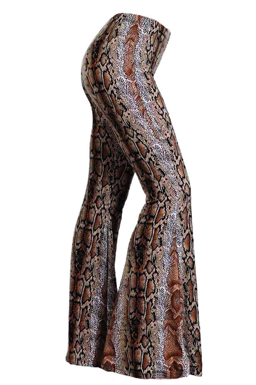 bell bottoms pants snake snakeskin lil bees bohemian cowgirl magazine