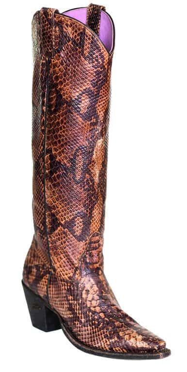 snakin it boot tall western cowboy brown miss macie cowgirl magazine
