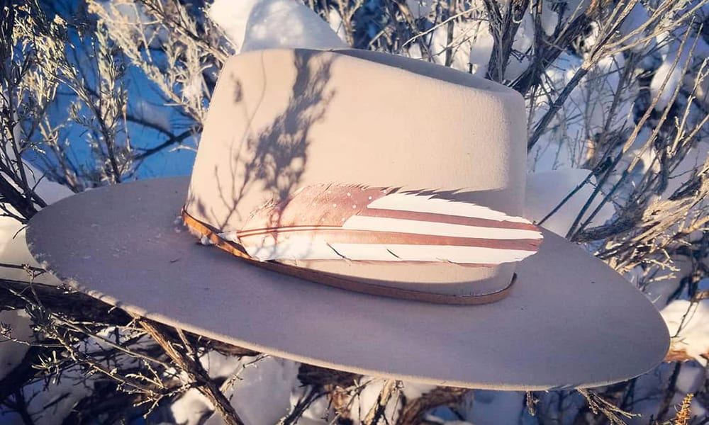 cowgirl hat rose gold original american feathers western cowgirl magazine