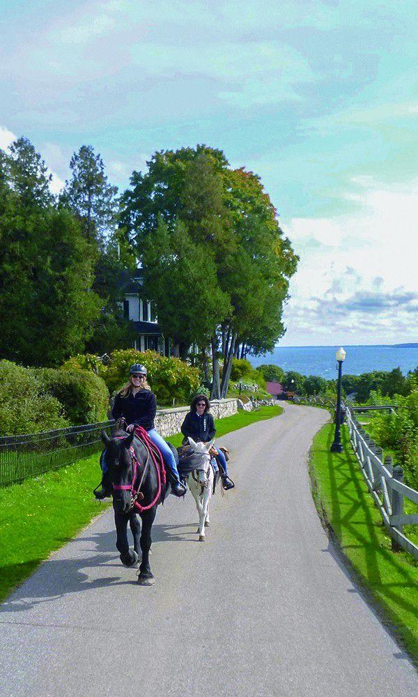 lake huron mackinac island trails horse riding cowgirl magazine