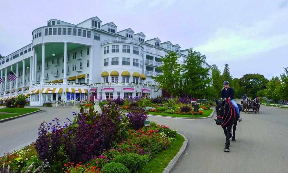 grand hotel mackinac island michigan horse riding trails cowgirl magazine