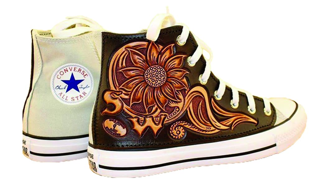 bar 9 l designs tooled leather converse sneakers cowgirl magazine