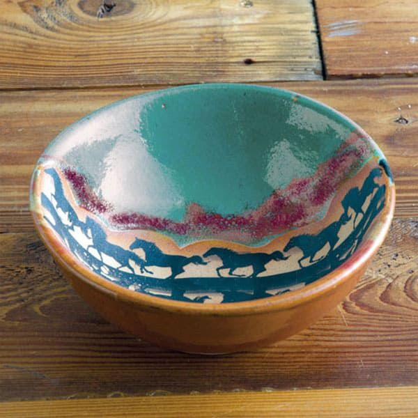 horse reflection dinnerware cowgirl magazine bowl