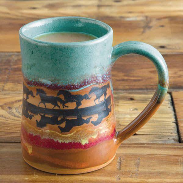 horse reflection dinnerware cowgirl magazine cup coffee mug
