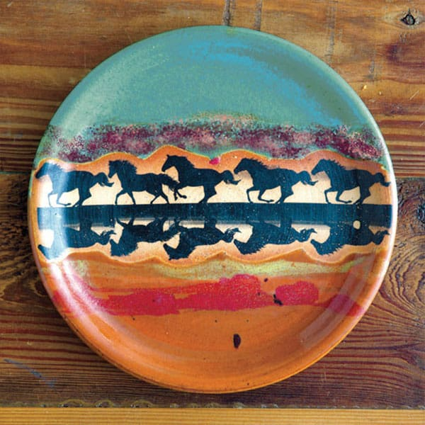 horse reflection dinnerware cowgirl magazine