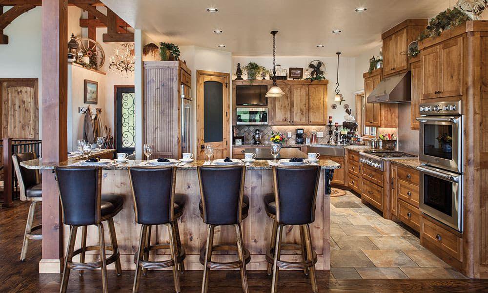 western wooden cozy kitchen oklahoma cowgirl kitchen
