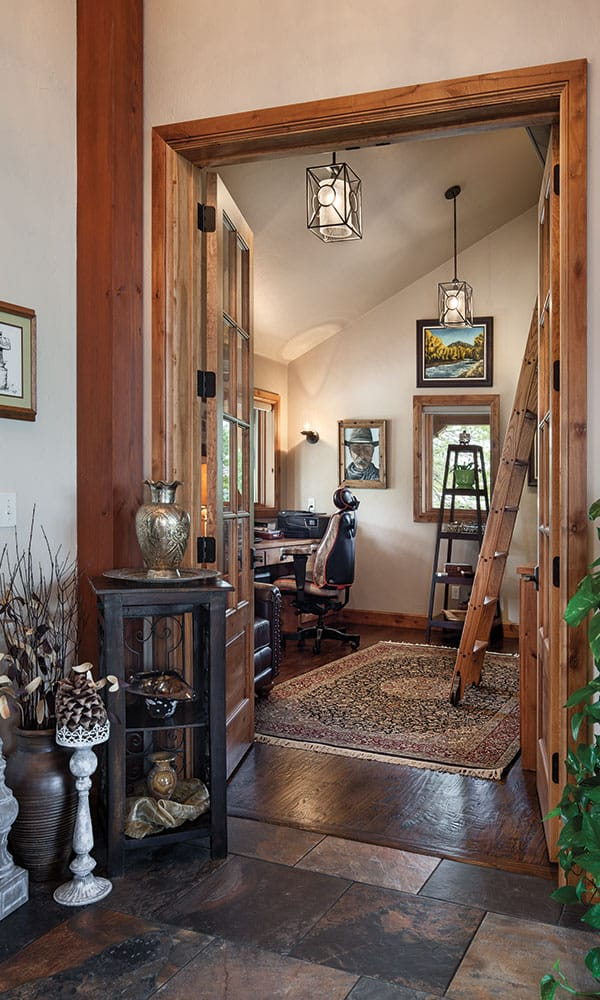 rolling wooden ladder office oklahoma mansion cowgirl magazine