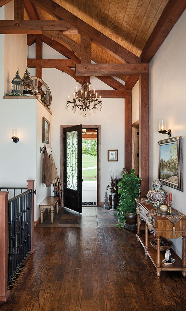 western mansion entryway woden oklahoma cowgirl magazine