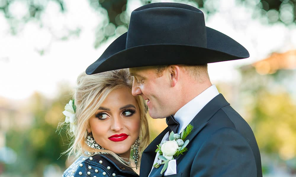 quincy freeman dakota eldridge wedding cowgirl magazine