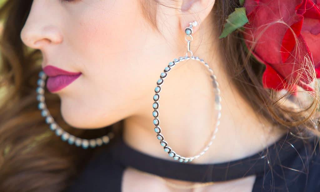 sterling silver hoop earrings by Rodeo Quincy