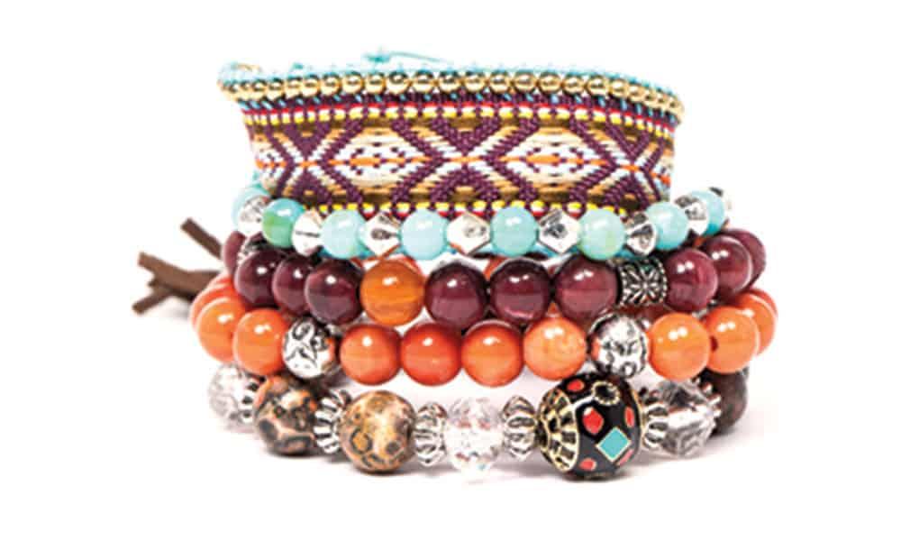 shyanne orange beaded bracelet set from boot barn cowgirl magazine
