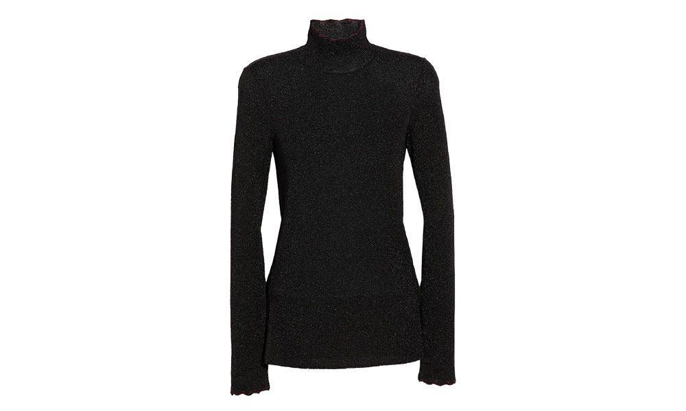coach black turtleneck sweater cowgirl magazine