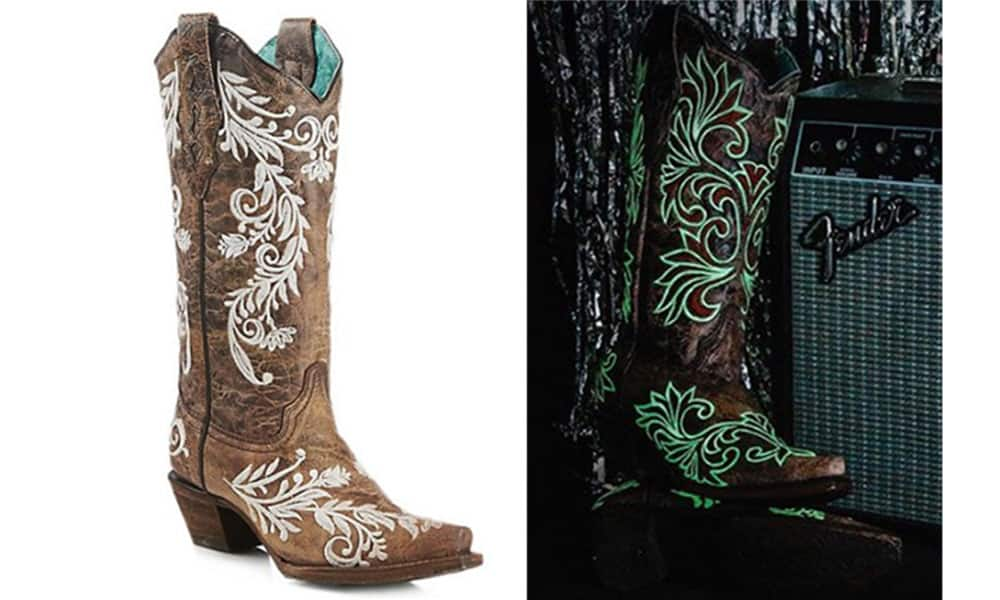 glow in the dark boots by Corral