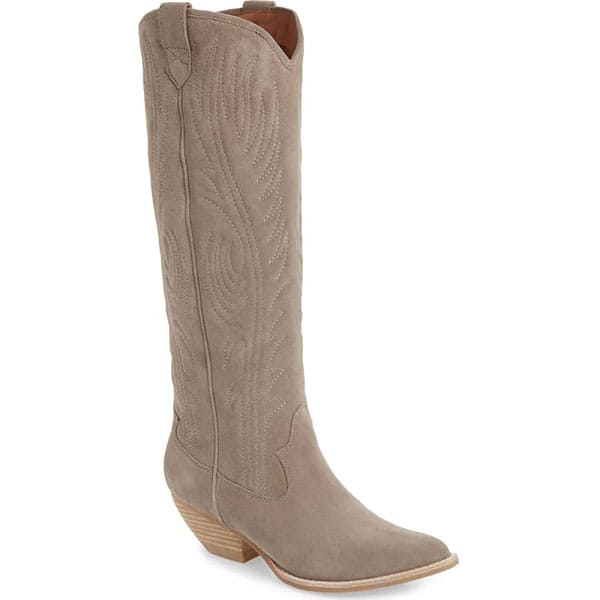 cowboy boot cowgirl magazine suede