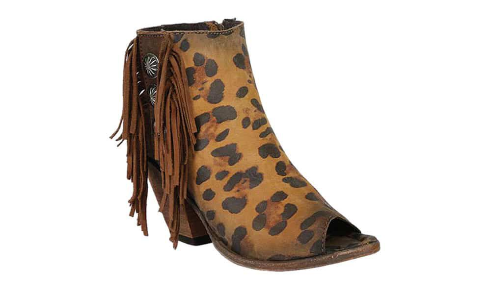 animal print fringe liberty black boots from boot barn cowgirl magazine