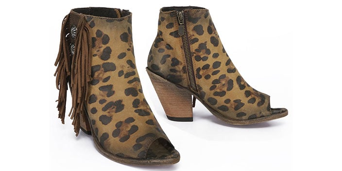 chetah boot with fringe